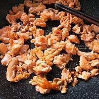 用平底锅做【杂粮三文鱼烤饭团】美味健身餐的做法图解4
