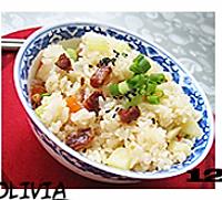五彩腊肠焖饭的做法图解12