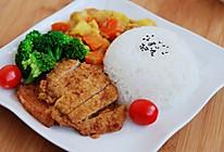 咖喱猪排饭的做法