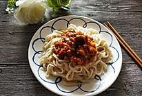 #换着花样吃早餐#茄子肉末番茄打卤面的做法