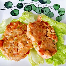 健身小菇凉的最爱☞芹菜胡萝卜鸡肉饼