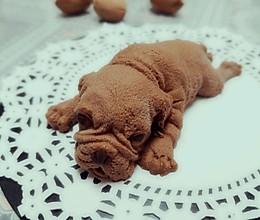 网红沙皮狗慕斯-抖音同款3D立体脏脏狗的做法