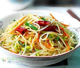 #夏日素食#-豆芽炒粉条的做法