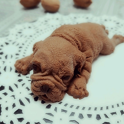网红沙皮狗慕斯-抖音同款3D立体脏脏狗