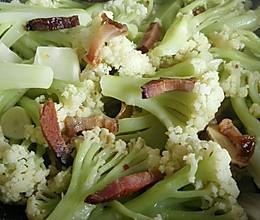 腊肉烧花菜(清淡版)的做法