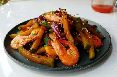 香辣萝卜油焖虾
