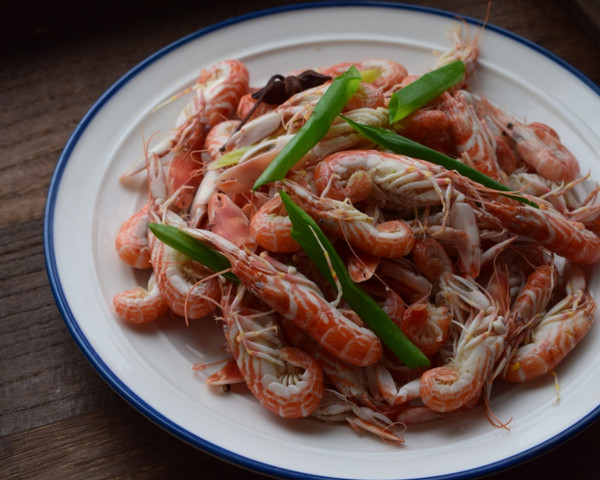水煮夹板虾的做法