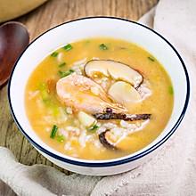 #好吃不上火#冬天就要吃热乎乎的北极虾蘑菇汤饭