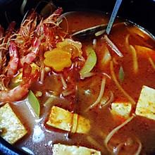 辣海鲜豆腐汤