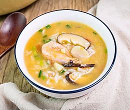 #好吃不上火#冬天就要吃热乎乎的北极虾蘑菇汤饭的做法