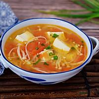 番茄金针菇豆腐汤的做法图解11