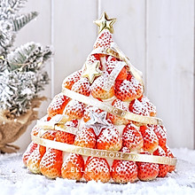 #令人羡慕的圣诞大餐#圣诞草莓蛋糕