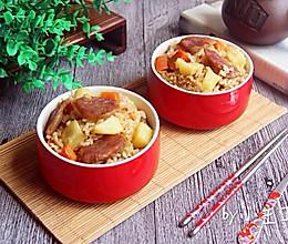 土豆腊肠闷饭的做法