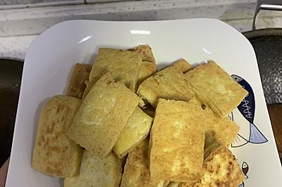 简单高蛋白:香煎老豆腐