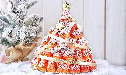 #令人羡慕的圣诞大餐#圣诞草莓蛋糕的做法