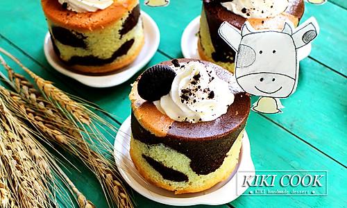 可爱奶牛蛋糕杯#有颜值的实力派#的做法