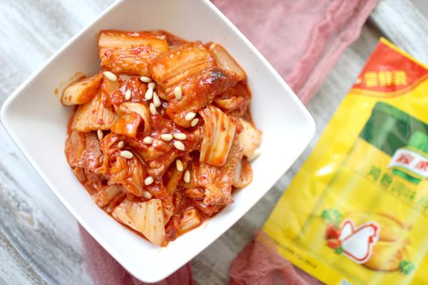 泡菜五花肉#鲜有赞,爱有伴#的做法