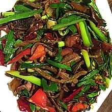 旺记出品—腊肉炒茶树菇