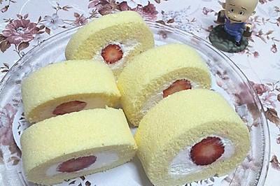 无油轻盈草莓蛋糕卷