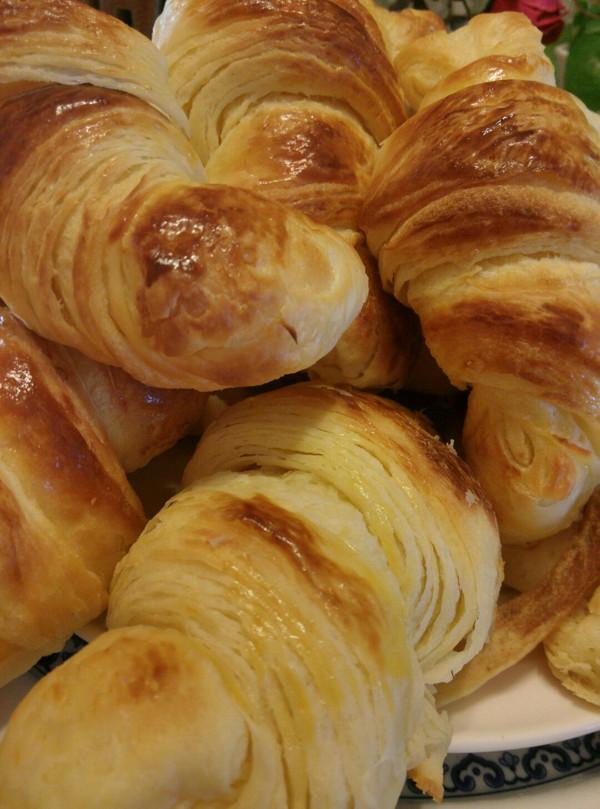 层层起酥的丹麦牛角面包的做法