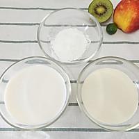 椰丝牛奶小方的做法图解2