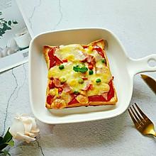 培根吐司披萨#花10分钟,做一道菜!#