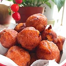 #我们约饭吧#炸红薯球-外脆里糯