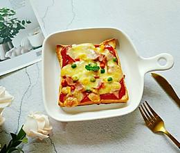 培根吐司披萨#花10分钟,做一道菜!#的做法
