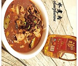 福临门花生油-水煮肉的做法
