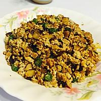 豆腐也能变身饕餮美食--肉糜小炒豆干杂蔬