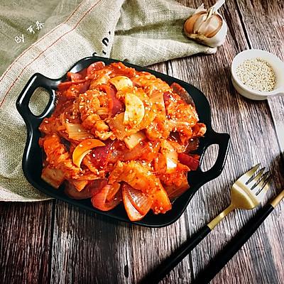 韩式辣白菜炒五花肉 简单快手家常菜韩剧必备下饭菜