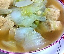 冻豆腐熬白菜的做法