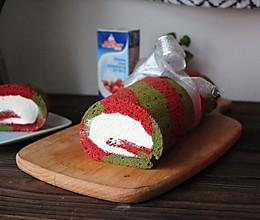 圣诞蛋糕卷#安佳烘焙学院#的做法