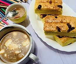 椰浆软糯蛋糕配椰奶咖啡的做法