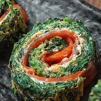日食记   三文鱼菠菜卷