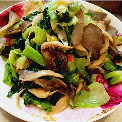 【素食主义】小炒蘑菇油菜