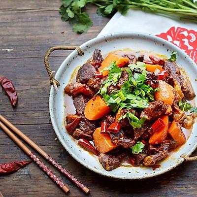 咱家年夜饭~胡萝卜炖羊肉