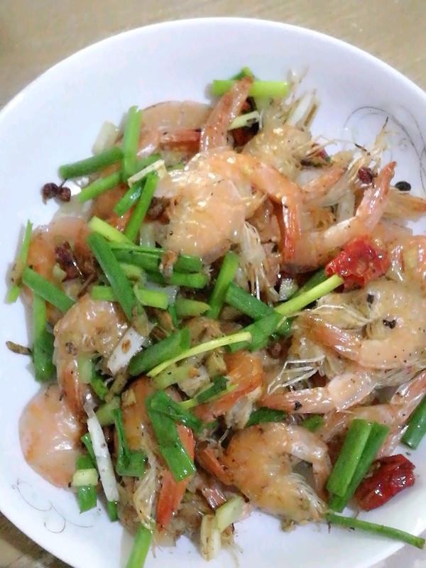 炒干虾的做法
