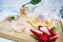 草莓桂花茶的做法