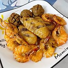 #仙女们的私藏鲜法大PK#烤盐焗鸡翅、虾、牛筋丸(烤箱版)