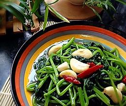 素食之— —清炒红薯叶的做法