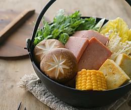 懒人餐午餐肉寿喜锅的做法