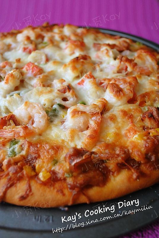 培根海鲜pizza的做法