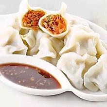 羊肉葱花+韭菜大虾饺子