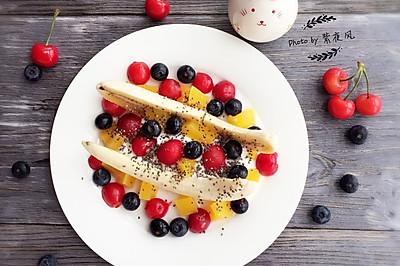 水果酸奶香蕉船