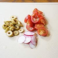 秋葵藜麦牛肉沙拉配苹果菠菜汁的做法图解8