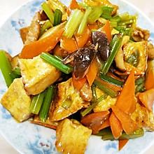 杂蔬炒煎豆腐