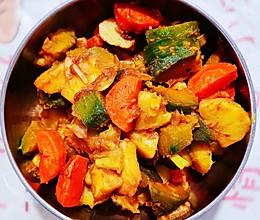 #豆果10周年生日快乐#南瓜胡萝卜土豆素炖的做法