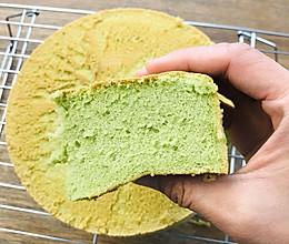 菠菜戚风—颜值可以媲美抹茶的戚风蛋糕的做法