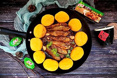 铁锅炖黄鱼贴饼子#新年新招乐过年#